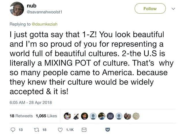"""Ve Daum'ın nasıl ABD'nin farklı kültürlerin """"genişçe kabul edildiği"""" bir eritme potası olduğunu gösterdiğini..."""