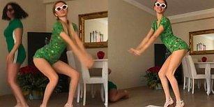 Cansu Taşkın da Yeşil Uzaylı Dansı Akımı İçin Bir Video Çekti!