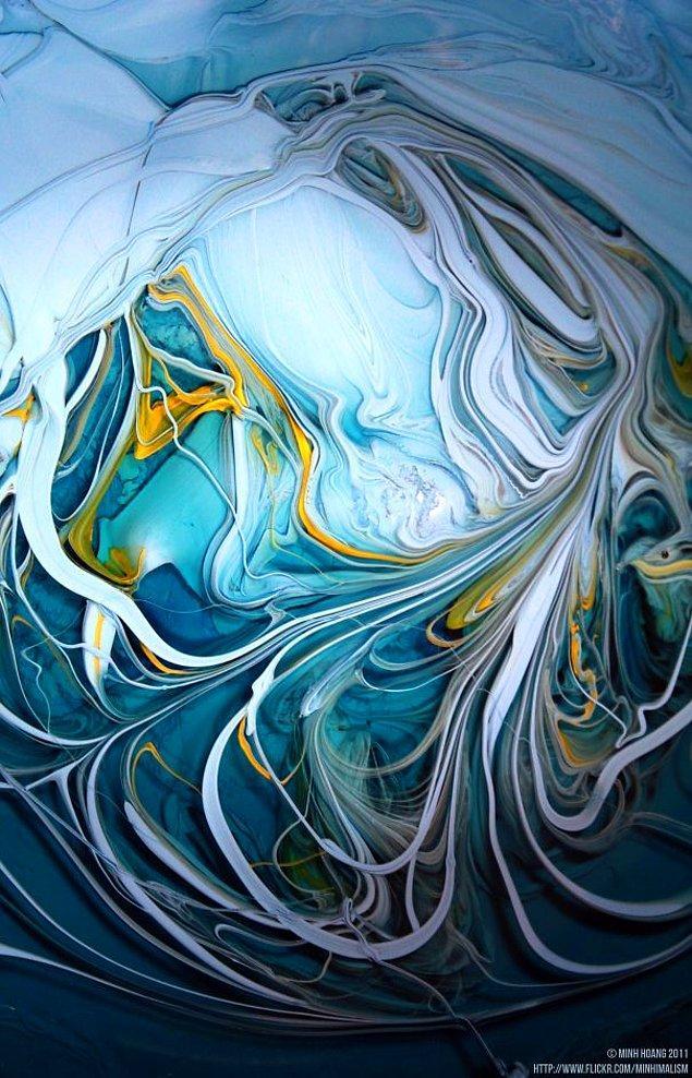 15. Sarı renkle güzelleştirilmiş mavi