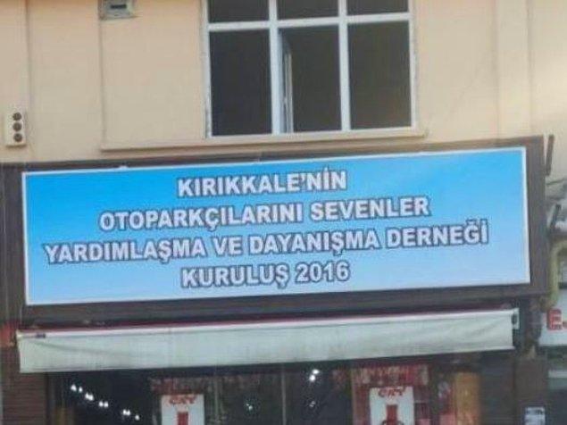 16. Bir başkadır Kırıkkale otoparkçıları.