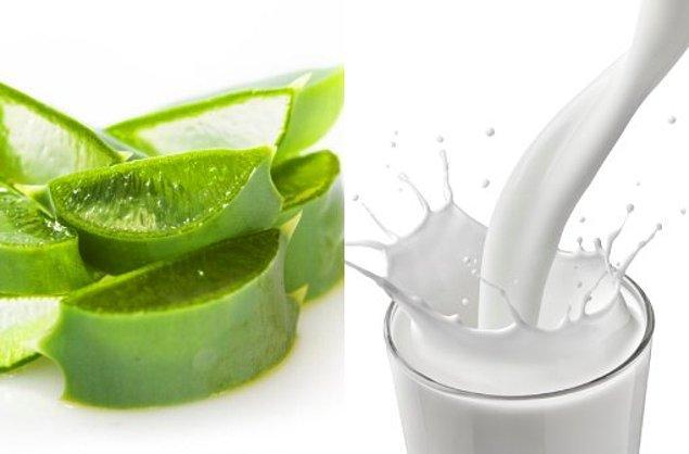3. Aloe Vera ve Süt