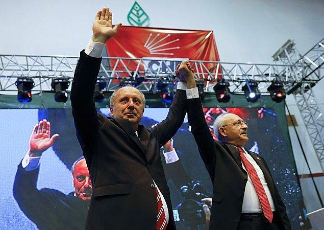 """Muharrem İnce, Kemal Kılıçdaroğlu'na teşekkür etti ve """"Kendisini eleştirmiş, karşısında aday olmuş birisini cumhurbaşkanı göstermek her babayiğidin harcı değildir"""" dedi."""