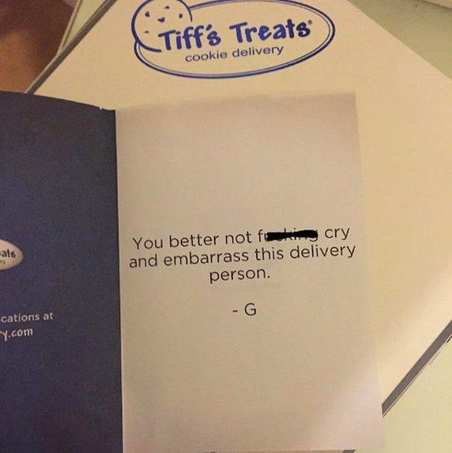 8. Umarız kurabiyeler bu nottan daha tatlıdır