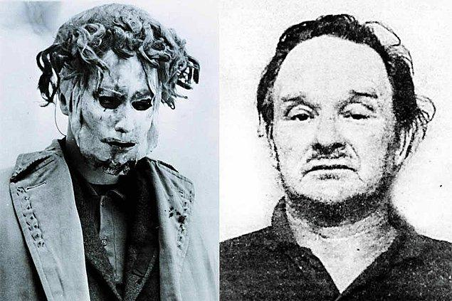1. Jersey Canavarı diye bilinen Edward Paisnel evlere kauçuk bir maske ve çivili çanta ile girer, kadınlara ve adamlara saldırırdı. Terör estirmediğinde ise yerel toplum merkezinde Noel Baba'yı oynuyordu.
