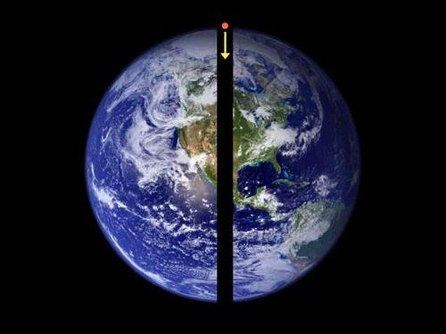 10. Dünyanın tam ortasından bir delik açılsa, öbür taraftan düşmeniz 42 dakika sürerdi