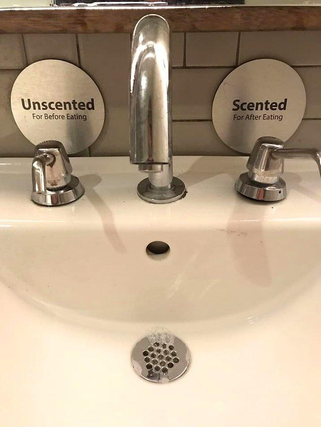 4. Yemekten önce kokusuz, yemekten sonra kokulu sabunla ellerinizi yıkayabilirsiniz!