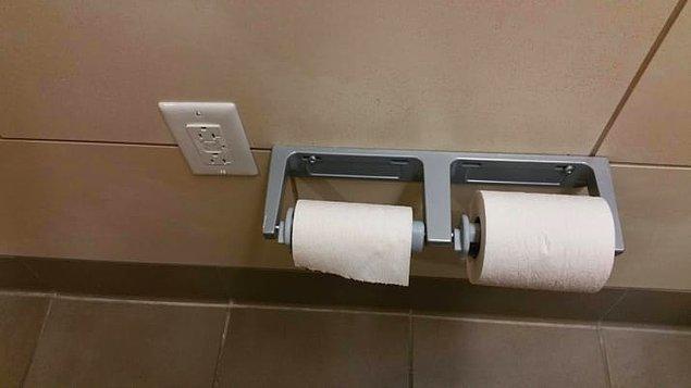 6. Tuvalete konulan prizlerle şarjınız artık hiç bitmeyecek!