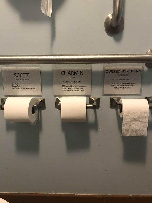 11. Hassasiyete göre çeşitlendirilmiş tuvalet kağıtlarıyla konforun en üst seviyeye taşındığı bir tuvalet!