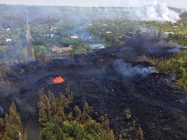 Dünyanın en aktif yanardağlarından biri olan Kilauea, 1983'ten beri faaliyette.