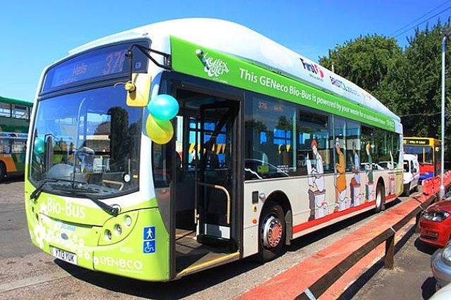 12. Bokla çalışan otobüs!