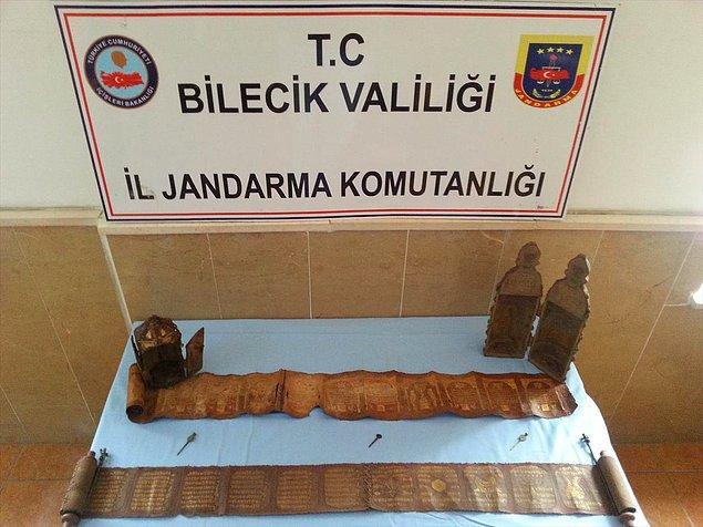 Jandarma,  İstanbul'dan yola çıkan içinde 5 kişinin bulunduğu bir otomobili Vezirhan beldesi girişinde durdurdu.