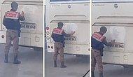 Otobüsün Üzerindeki Atatürk Silüetinin Tozunu Temizleyip İki Yanına da Kalp Çizen Güzel İnsan