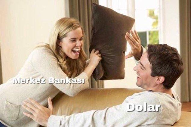 1. Merkez bankası dolara müdahale ediyor. :)