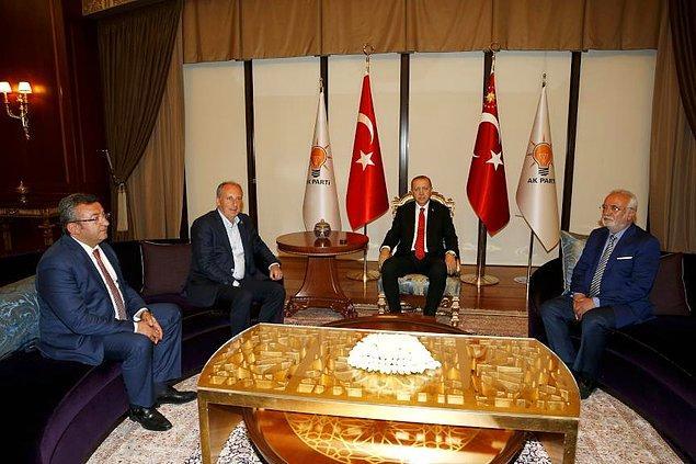 AKP Grup Başkanvekili Mustafa Elitaş görüşmenin ardından yaptığı açıklamada 'Birbirlerine başarı dilediler. İkisi de Rizeli'ymiş. Sohbet ettiler' diyerek görüşmenin olumlu geçtiğini söyledi.