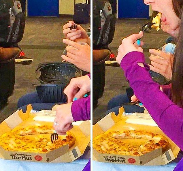 2. Pizza pizzalığından utanmış şunun hareketlere bak.