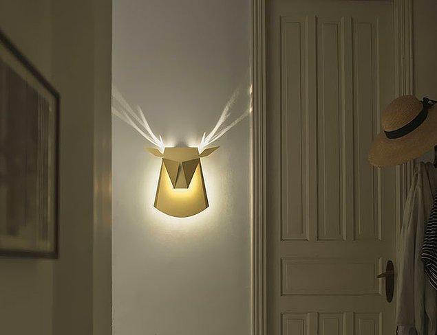 15. Bu lambayı açtığınız anda boynuzları çıkıyor.