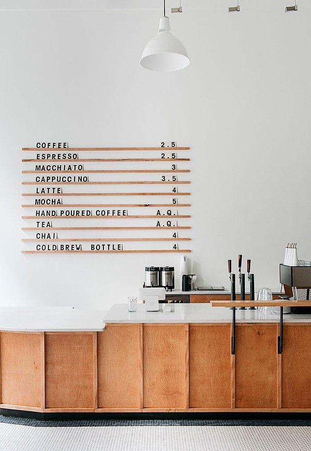 24. Oldukça minimalist bir kahve dükkanı...☕️