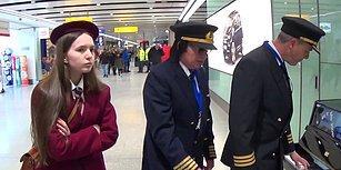 Havalimanındaki Piyano ile Harikalar Yaratan Liseli Kız ve İki Pilotun Muhteşem Anları