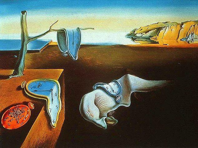 1. Salvador Dali'nin  en meşhur tablolarından biri olan bu eserde, dikkatini en çok ne çekti?