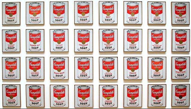 8. Son olarak Andy Warhol'un kariyerinde imza niteliği taşıyan bu eserini tek bir cümleyle anlatacak olsaydın bu aşağıdakilerden hangisi olurdu?