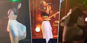 Inna, İstanbul Konserinde Sahneden Düştü!