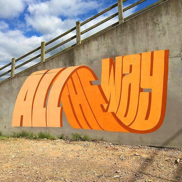 14. Grafiti, adeta duvarın önünde duran bir cisim gibi!