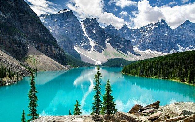 4. Kanada'nın içinde Dünya'nın geri kalanında olduğundan daha fazla göl vardır.