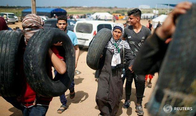 Filistinlilerin altı haftadır süren protesto gösterileri devam ediyor.
