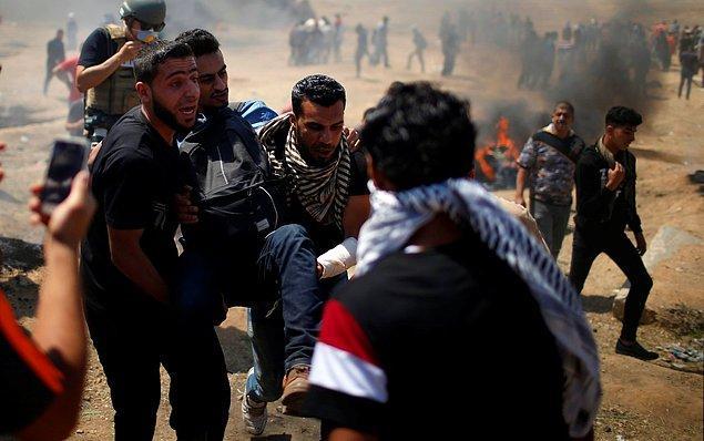 2.700'ü aşkın Filistinli ise yaralandı.