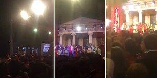Mezuniyet Töreninde İzmir Marşı Söyleyen Öğrencileri Susturmak İçin Pop Müzik Çalan Okul Müdürü