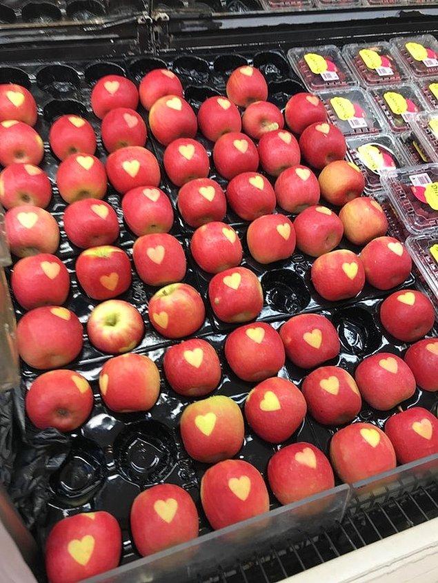 17. Kalp damgalı elmalar ile ilan-ı aşk etmek daha kolay...