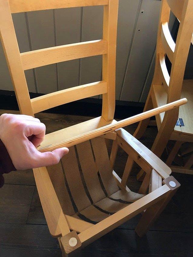 9. Bu sandalyelerin altında bulunan küçük göze eşyalarınızı koyup güvenli hale getirebilirsiniz.