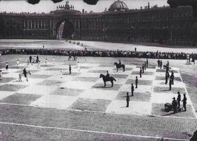 Satranç oyunu, St. Petersburg, Rusya, 1924.
