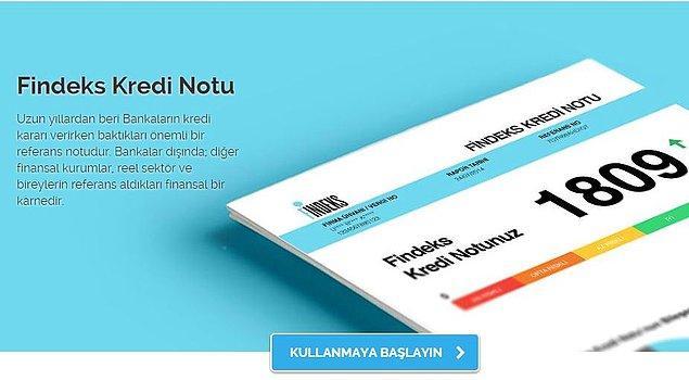1. KKB kuruluşu olan Findeks üzerinden online olarak kredi notunuzu öğrenebilirsiniz.