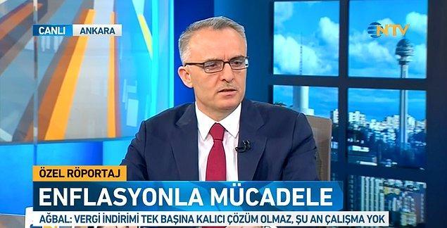 """Bakan Ağbal, akaryakıtta ÖTV'nin indirilebileceği iddialarına, """"Şu an bir çalışma yok"""" yanıtını vermişti."""