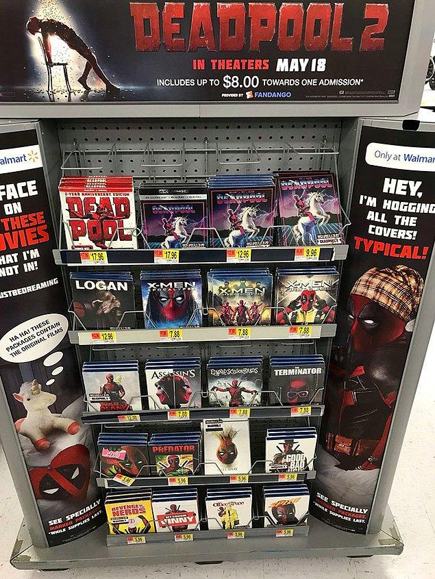 Deadpool zaten eğlenceli ve zeki tanıtım projeleriyle bilinen bir film. Bu kez yapılan ise, film tarihine damga vurdu diyebiliriz.