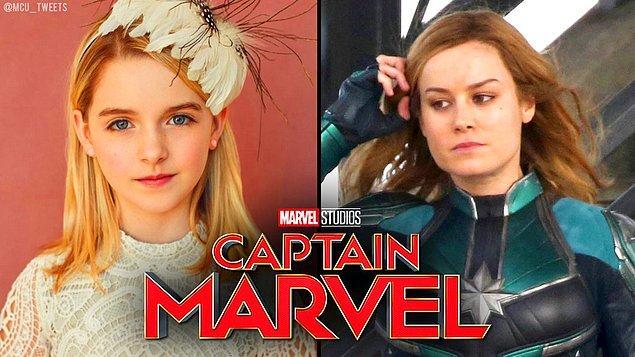 6. Captain Marvel filminde Brie Larson'ın canlandırdığı Carol Danvers'ın çocukluğunu Mckenna Grace oynayacak.