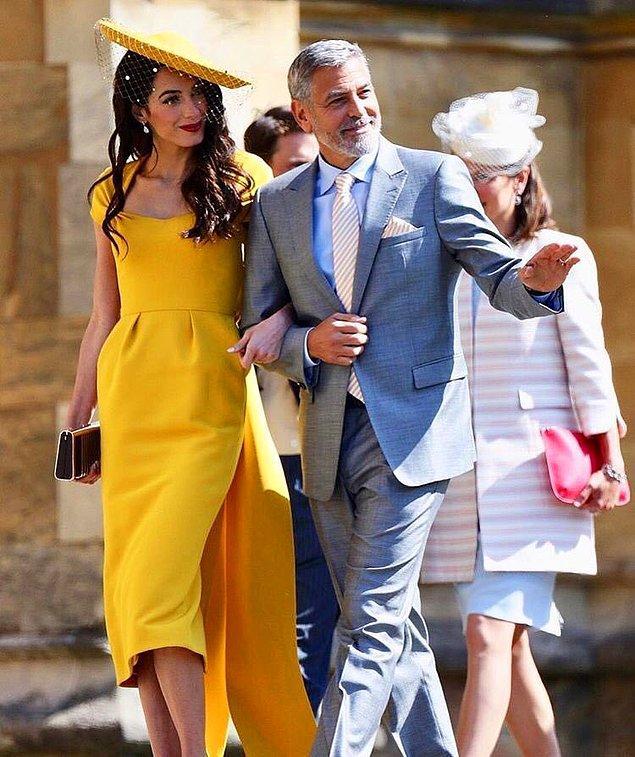 George Clooney ve eşi Amal Clooney de davetliler arasındaydı.