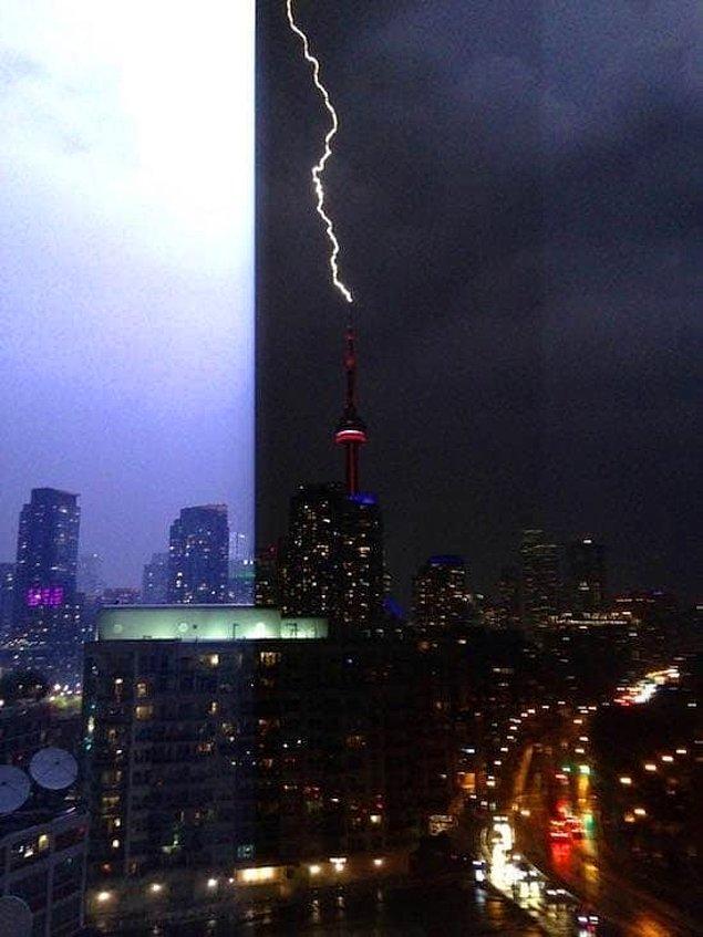 9. Bu fotoğraf Toronto'da çekildi. İnanılmaz değil mi?