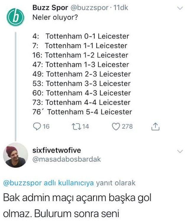 """7. Maç """"5-4"""" bitti. :)"""