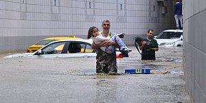 İş Yerlerini Su Bastı, Araçlar Alt Geçitte Mahsur Kaldı: 21 Fotoğrafla Ankara'daki Sağnak Yağışın Etkileri