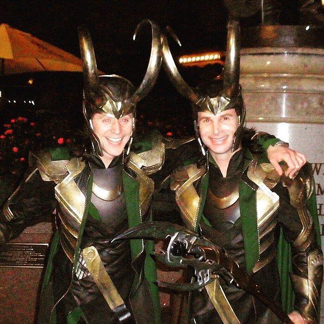 8. Tom Hiddleston (Loki) ve dublörü Paul Lacovara: