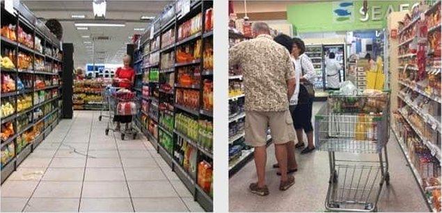 1. Yan yana iki farklı fotoğrafla iyi insan ve kötü insan: