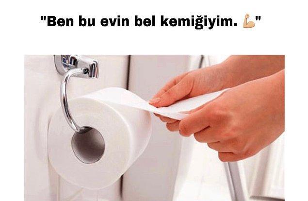 2. Tuvalet kağıdını değiştirdiğinde;