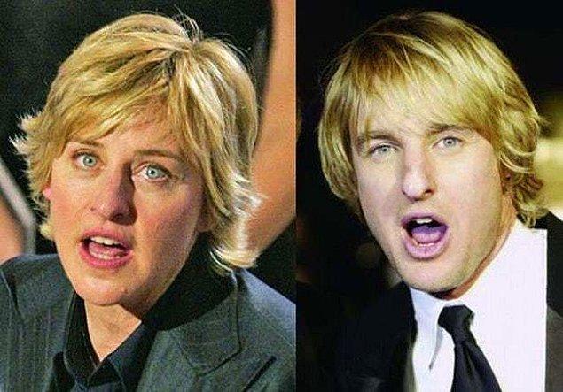 20. Ellen DeGeneres ve Owen Wilson