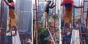 Yüzlerce Metre Yükseklikte Ölümle Dans Eden İnşaat İşçileri