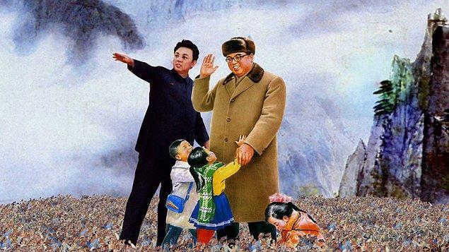 2. Kuzey Kore'de hayatını kaybetmiş liderlerin anısına saygı göstermek zorundasınız. Bu yüzden Kim Il-Sung'un ölüm yıl dönümünde gün boyu gülmek yasak!