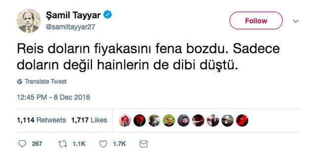 5. Haziran'da gerçekleşecek seçimler için listeye giremeyen Şamil Tayyar da bu paylaşımıyla ufkumuzu açmıştı sağolsun.
