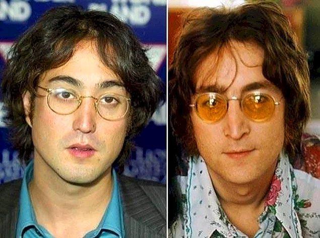 12. John Lennon ve oğlu Sean Lennon