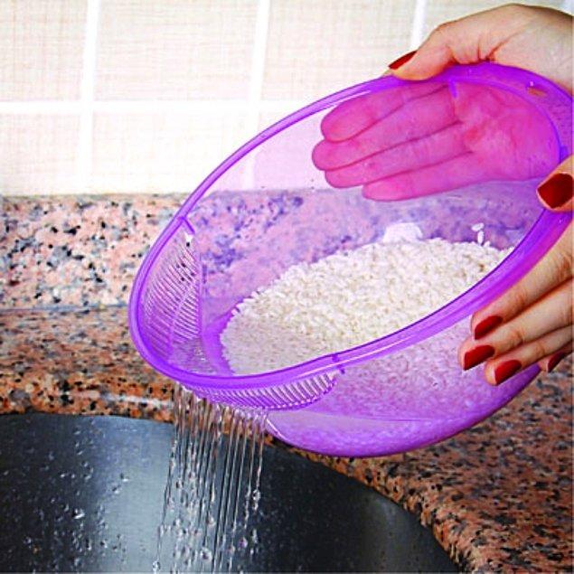 10. Pirinç süzgeci